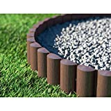 Cellfast ECO Rasenkante Palisade, braun, 8 Stück: 2,4 x 0,3 m Gartenpalisade Raseneinfassung Beetumrandung (7,2m)