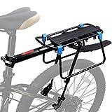 WESTGIRL Fahrradträger hinten, Schnellspanner Fahrrad Gepäck Cargo Rack mit Fender Verstellbares Fahrrad-Gepäckträger-Gestell Laden 50 KG