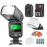 Neewer PRO NW670 E-TTL Foto Blitz Set Blitzgerät Flash für Canon Rebel T3i T5i T4i T3 T2i T1i XSi XTi SL1, EOS 700D 650D 600D 1100D 550D 500D 450D 400D 100D 300D 60D 70D DSLR-Kameras, Canon EOS M Kompaktkameras, schließen ein: (1) NW670 ETTL Blitz für Canon + (1) Universal-Mini Blitz Bounce Diffuser Kappe + (1) 35-teilige Farbgel Filter + (1) Blitzdiffusor + (1) 16 Kanäle Wireless Servo-Blitzauslöser + (4) LR-Batterie