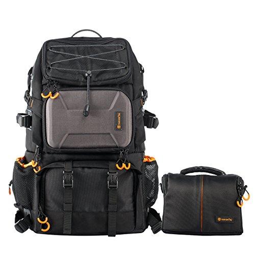 TARION Pro PB-01 Kamerarucksack Kameratasche Fotorucksack Outdoor Rucksack Wanderrucksack Große Kapazität (ca.28,9 L) für Canon Nikon Sony Kamera Camcorder mit Mini Schultertasche und Regenschutzhülle