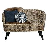 2 Sitzer Rattan Sofa SARA 127 cm Gartensofa Lounge Loungesofa Rattansofa