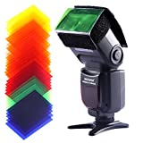 Neewer Universal 35 Stück Farbfolien Blitz Gele farbige Beleuchtungs Gele Farbe Speedlite Farbfilter Set für Neewer Canon Nikon Sony Pentax Olympus Metz und alle Arten Blitzgeräte für Digitalkameras
