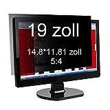 Xianan 19 zoll Standardbildschirm 5:4 Displayfilter Bildschirmfilter Blickschutzfilter Blickschutzfolie Blickschutz Sichtschutz 14.8*11.81zoll/376*300mm