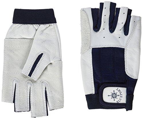 Blueport Segelhandschuhe aus Leder - 5 Finger frei, Größe:M