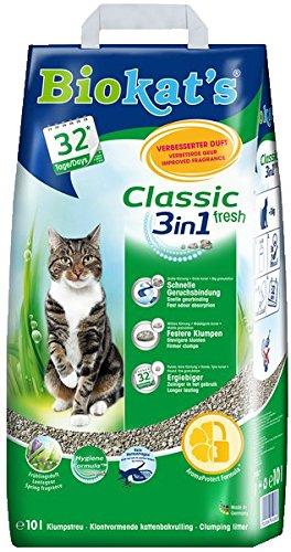 Biokat's 3 in 1 Classic Fresh - Mit Duft Katzenstreu, 10 L