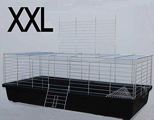 H1,20 m Hasenkäfig Nagerkäfig Kaninchenkäfig Käfig Stall Meerschweinchen schwarz