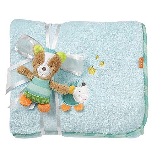 Fehn 071443 Kuscheldecke Fuchs / Kuschelige Schmusedecke für Babys und Kleinkinder ab 0+ Monaten - zum Kuschen, als Krabbelunterlage oder Schnuffeltuch, Maße: 100x75cm