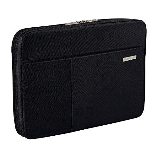 Leitz, Organisationsmappe für 10 Zoll Tablet, A4 Notizblock oder Notizbuch, Smart Traveller, Polyester/Metall, Complete, Schwarz, 62250095