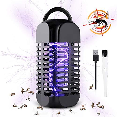 Baban Insektenvernichter elektrisch, Licht UV- Mückenlampe, hängbarer Moskito Killer, USB-Buchse, Anti-Schock, effektive Reichweite 20 Quadratmeter, geeignet für Camping, Zimmer und Innenbereich