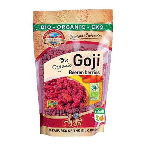 Bio Goji Beeren extra groß 500g Gojis Gojibeeren roh Rohkost extra groß 0,5 kg