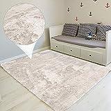 Amazinggirl Hochflor Shaggy Langflor Teppich - für Wohnzimmer Schlafzimmer modern flauschig Läufer Wohnzimmerteppich waschbar Indoor Outdoor WEIß 100 x 160 cm