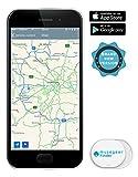 musegear App Schlüsselfinder -mini - weiß - Schlüssel, Keys, Handy, Fernbedienung wieder-finden - Smartphone Bluetooth GPS Kopplung