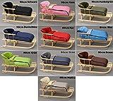 Holzschlitten mit Rückenlehne mit Winterfußsack Schlitten Holz | 10 Farben