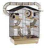 XXL Diamant Hamsterkäfig 5 Etagen 3 Leitern großes Röhrensystem Beige Außenröhren mehrere Türen viel Zubehör