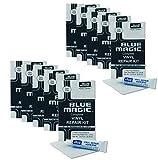 10x Blue Magic PVC Reparatur-Set Kleber und Flicken für Wasserbett, Pool, Planschbecken, Wasserbälle etc.