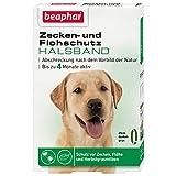 Zecken- & Flohschutz Halsband Hund | Schutz vor Zecken Flöhen | Wirkt 4 Monate | Hundehalsband mit frischem Duft | Farbe: Grün | Länge: 65cm