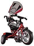 Kiddo Rot Smart Design 4-in-1 für Kinder Dreirad Kinder Trike 3 Räder Fahrrad Eltern Neue (Rot)