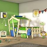 WICKEY Kinderbett CrAzY Candy Jugendbett 90x200cm mit Lattenboden, gelb-apfelgrün