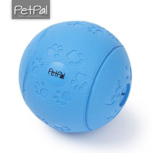 Hundeball Snackball aus Naturkautschuk von PetPäl | Hunde Ball mit Labyrinth Ø 7cm | Hundespielzeug mit Leckerli befüllbar | Kauspielzeug aus Naturgummi | Hundespielball für Große & Kleine Hunde