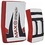MAXSTRENGTH Training Ausrüstung MMA Gebogen Strike Shield Boxsack–Weiß/Schwarz/Rot