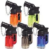 Sturmfeuerzeug 'AZAS' BLUE JET FLAME Turbo Feuerzeug 5 Farben JET FLAME Torch Gas Lighter mit 45° Flamme für Pfeife, Shisha etc (ALLE FARBEN / 5 Feuerzeuge)