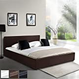 Kunstlederbett 140x200cm mit integriertem Lattenrost und Bettkasten in 3 verschiedenen Farben