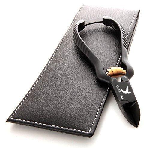 Nagelzange für starke Fußnägel - gebogene Schneide - Fußnagelzange - Profiline - Fußpflegeinstrument für die Pediküre / Fußpflege - rostfreier Edelstahl