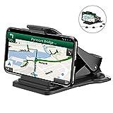 Handyhalter fürs Auto, Bovon Platzsparende Smartphone Halterung KFZ auf Armaturenbrett, GPS Halterung, mit 5 Kabelklemmen, Handyhalterung Auto für alle 3-6.5 Zoll Smartphones (Schwarz)