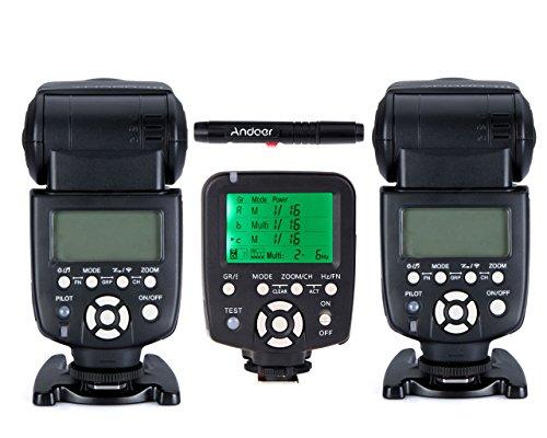 YONGNUO YN560-TX Drahtloser Flash Kontroller + 2x YN560-III Speedlite Blitzgerät für Canon DSLR-Kameras
