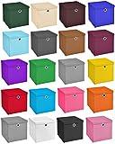 4er Set Weiß Faltbox 28 x 28 x 28 cm Aufbewahrungsbox faltbar mit Deckel