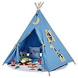 Integrity Co Erstklassiges Indianerzelt Tipi aus Spitze für Kinder. Kinder Spielzelt / Spielhaus / Wigwam (blau)