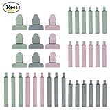 36er Dichtungsclips, SEELOK Kunststoff Verschließen Tüte Clips Plastikbeutel Klemmen für Lebensmittel und Snacks Lagerung 3 Größen, verschiedene Farben