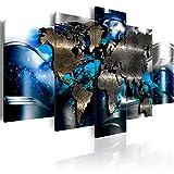 murando - Acrylglasbild Abstrakt 200x100 cm - 5 Teilig - Bilder Wandbild - modern - Decoration - Weltkarte Abstrakt k-A-0017-k-p