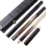 CUESOUL Klassische Handgemachte 57 Zoll Palisander 3/4 Stück Snooker Queue mit Schwarz Köcher und Aluminium Teleskop Extension (CSSC014)