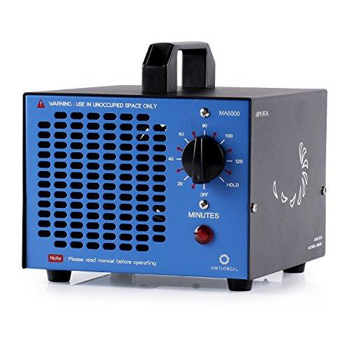Airthereal MA5000 5.000mg/Std. Kommerzieller Ozongenerator Geruchskiller, Ozon Luftreiniger Ozongerät Ozonisator mit Timer für Zimmer, Rauch, Autos und Haustiere (Blau)