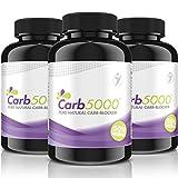 Carb5000   90 Kapseln Hochdosiert   Natürlicher Carb-Kohlenhydrat-Blocker   Phaseolin, White Kindey Bean Extrakt (Kidneybohnen)   Premium Qualität