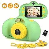 DECOMEN Kinder Kamera Mini Wiederaufladbare Digitalkamera 8MP Kinder Anti-Drop Stoßfestes Design 2,4 Zoll Bildschirm Digitale Camcorder mit Silikon Soft Cover für Party Spielen im Freien