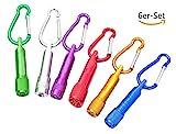 Dosige 6er-Set Mini-Taschenlampe Schlüsselanhänger Minitaschenlampen Schlüsselbund Zufällige Farbe