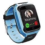 GPS Kinder Smartwatch Telefon - Kinder Smart Watch Intelligente Armbanduhr Armband Sport Uhr, Anruf Sprachnachricht SOS Taschenlampe Digitalkamera, Geschenk für Kinder Junge Mädchen Student