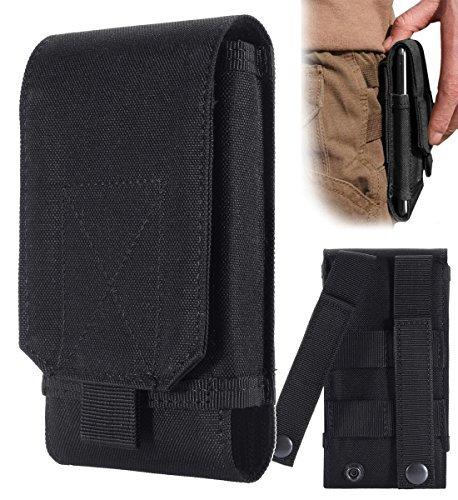 urvoix schwarz Armee Camo Tasche für Handy Gürteltasche Holster Schutzhülle Größe L