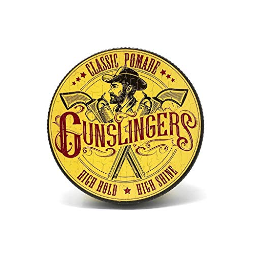 Gunslingers Classic Pomade, High Hold and High Shine, Vegan Friendly and Cruelty Free