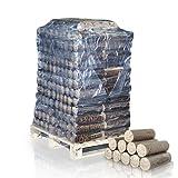 PALIGO Nestro Holzbriketts Hartholz Eiche Kamin Ofen Brenn Holz Heiz Brikett 6kg x 50 Gebinde 300kg / 1 Palette HEIZFUXX