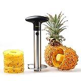 Deiss PRO Ananasschneider - 2 in 1 Edelstahl Ananasschneider & Schäler - Macht die perfekten Ananas Ringe ohne eine Sauerei - Spülmaschinenfest