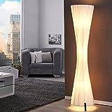 LOUNGE DESIGNER STEHLAMPE SILUETA Bodenlampe Wohnzimmerlamp 160 cm weiß