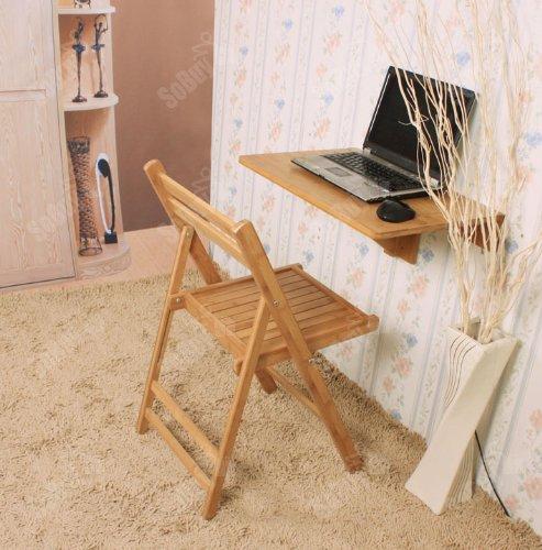 SoBuy Wandklapptisch Klapptisch Tisch Küchentisch Kindermöbel aus Bambus, FWT031-N, 60x40cm