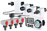 Royal Gardineer Wassercomputer: Bewässerungscomputer BWC-400 mit 4 Schlauch-Anschlüssen (Bewässerungscomputer 4 Ausgänge)