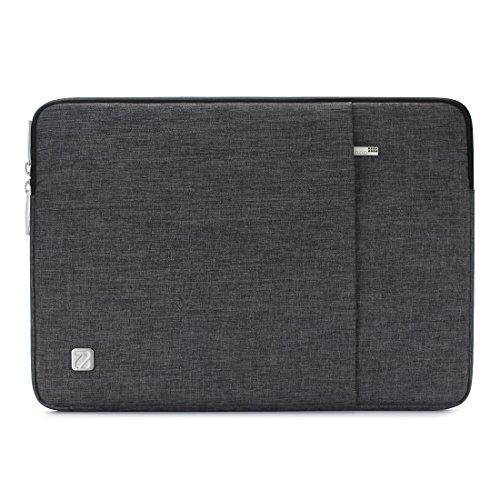NIDOO 13.3 Zoll Wasserdicht Laptop Sleeve Case Laptophülle Notebook Hülle Tasche für 13' MacBook Pro Air / 13.3' Samsung Notebook 9 Pro / 2017 Neu Microsoft 13.5' Surface Laptop, Dunkelgrau