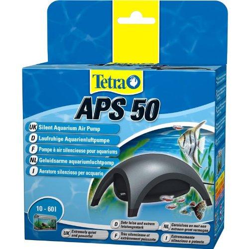 Tetra APS 50 Aquarienluftpumpe Luftpumpe Membranpumpe für Aquarien (sehr leise laufruhig leistungsstark, mit Lufthahn zur Kontrolle des Luftstroms)