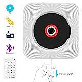 CD Player,VIFLYKOO Bluetooth an der Wand montierbaren tragbaren CD-Musik-Player mit HiFi Lautsprecher FM Radio MP3 Eingang Fernbedienung 3,5mm Aux Buchse für Kinder Studenten und Ältester -Weiß