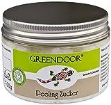 Greendoor Peeling Zucker, Gesichtspeeling mit Bio Babassuöl für Gesicht Hals Dekolleté & empfindliche Haut, 100g ohne Duft, ohne Parfum, ohne Konservierungsmittel, ohne Mikroplastik, Naturkosmetik